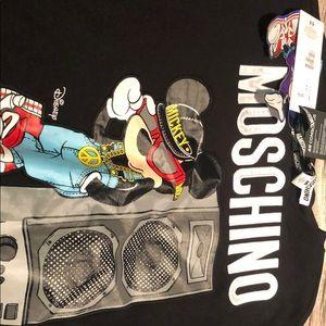 H&M Moschino men's black Mickie sweater